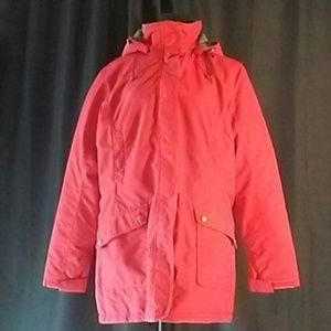 Land's End Red Jacket / Coat with Hood